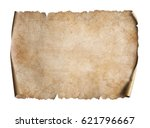 old map on parchment oriented... | Shutterstock . vector #621796667
