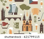 seamless background with... | Shutterstock .eps vector #621799115