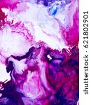 blue and pink abstract art hand ... | Shutterstock . vector #621802901