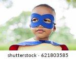 african american super hero...   Shutterstock . vector #621803585