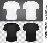 t shirt template collection... | Shutterstock .eps vector #621806267