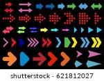 set of arrows. | Shutterstock .eps vector #621812027
