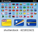 flag icons of the world with... | Shutterstock .eps vector #621812621