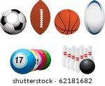 Set Of Football  American...