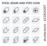 vector icon of steel pipe and... | Shutterstock .eps vector #621824207