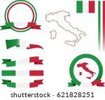 italy banner set. vector... | Shutterstock .eps vector #621828251