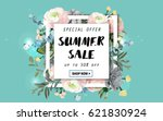 summer sale background with... | Shutterstock .eps vector #621830924