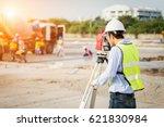 Engineer Surveyor Working With...