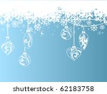 blue background with snowflakes | Shutterstock .eps vector #62183758