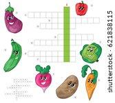 vector crossword game for... | Shutterstock .eps vector #621838115