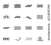 wave icons or water liquid... | Shutterstock .eps vector #621839294