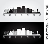 orlando usa skyline and... | Shutterstock .eps vector #621849701