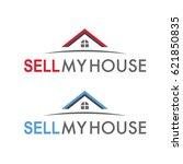 sell my house creative logo | Shutterstock .eps vector #621850835