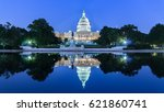 the united states capitol... | Shutterstock . vector #621860741