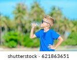 portrait of a thirsty handsome... | Shutterstock . vector #621863651