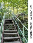 metal staircase in the ravine....