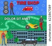 set   image of sales of goods... | Shutterstock .eps vector #621867089