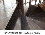 modern steel spiral staircase | Shutterstock . vector #621867689