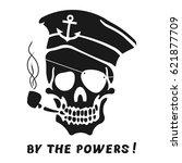 vector image of skull captain... | Shutterstock .eps vector #621877709