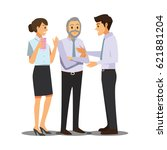 business and office concept ... | Shutterstock .eps vector #621881204