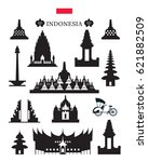 indonesia landmarks... | Shutterstock .eps vector #621882509