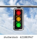Traffic Light Against Blue Sky...