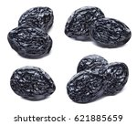 dry prunes set isolated on... | Shutterstock . vector #621885659