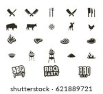 vector steak house and grill... | Shutterstock .eps vector #621889721