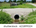 Drainage pipe: New culvert under small country side gravel road