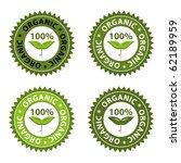 100  organic food conceptual... | Shutterstock .eps vector #62189959