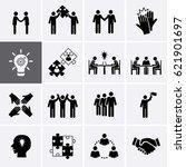 team work  career and business... | Shutterstock .eps vector #621901697