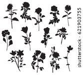 vector silhouettes of different ... | Shutterstock .eps vector #621903755