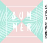 retro typographic summer design ... | Shutterstock .eps vector #621907121