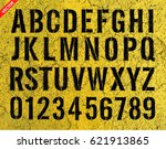 letters and numbers painted... | Shutterstock .eps vector #621913865
