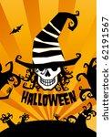 halloween background  vector... | Shutterstock .eps vector #62191567