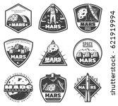 vintage monochrome mars... | Shutterstock .eps vector #621919994