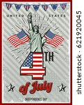 colored vintage independence... | Shutterstock .eps vector #621920045