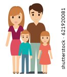 parents and kids family design | Shutterstock .eps vector #621920081