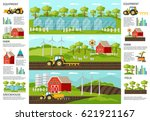 farming and agriculture... | Shutterstock .eps vector #621921167