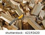 a lot of split logs cut down... | Shutterstock . vector #62192620