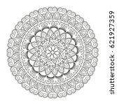 flower mandala. vintage...   Shutterstock .eps vector #621927359
