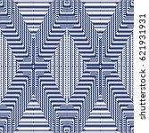 vector seamless pattern ... | Shutterstock .eps vector #621931931