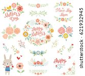 mother's day collection with... | Shutterstock .eps vector #621932945