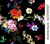 seamless background pattern.... | Shutterstock .eps vector #621935567