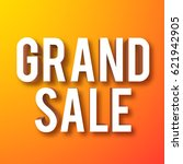 grand sale symbol on orange... | Shutterstock .eps vector #621942905