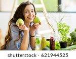 portrait of a beautiful woman... | Shutterstock . vector #621944525