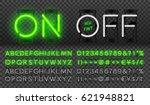 big green neon set glowing... | Shutterstock .eps vector #621948821