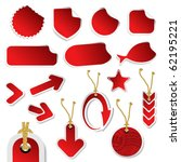 vector stickers with curled... | Shutterstock .eps vector #62195221