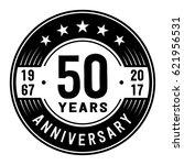 50 years anniversary logo... | Shutterstock .eps vector #621956531