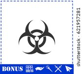 biohazard icon flat. simple...